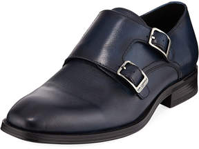 Karl Lagerfeld Paris Textured Double-Monk Loafer