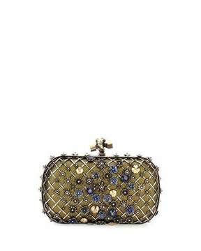 Bottega Veneta Metal Lattice Mini Knot Clutch Bag