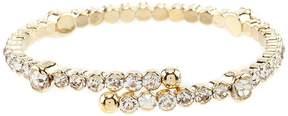 Cezanne Crystal Rhinestone Spring Coil Bracelet