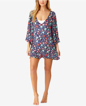 Anne Cole Lazey Dazey Floral-Print Flutter-Sleeve Tunic Cover-Up Women's Swimsuit
