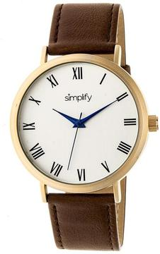 Simplify The 2900 Collection SIM2903 Unisex Watch with Leather Strap