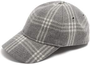 A.P.C. Louis checked wool-blend cap