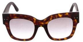 Bottega Veneta Oversize Leather Sunglasses