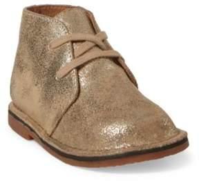 Ralph Lauren Carl Leather Chukka Boot Gold Leather 5