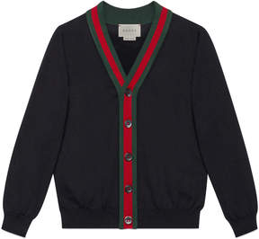 Children's cotton cardigan with Web