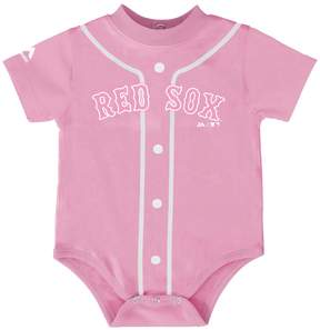 Majestic Baby Boston Red Sox Pink Jersey Bodysuit