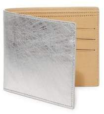 Maison Margiela Scratched Metallic Leather Bifold Wallet