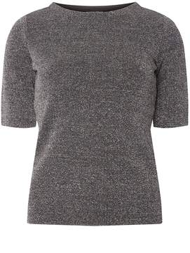 Dorothy Perkins Silver Sparkle Knitted T-Shirt