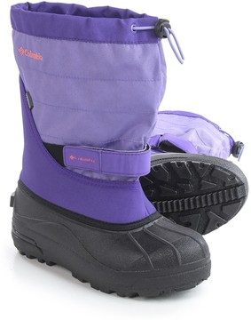 Columbia Youth Powderbug Plus II Snow Boots - Waterproof, Insulated (For Little and Big Kids)