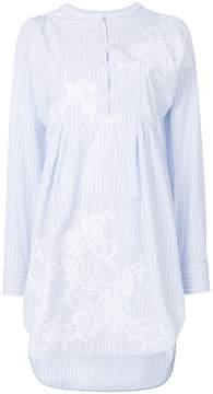 Ermanno Scervino round-neck striped shirt dress