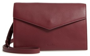 Women's Steven Alan Easton Leather Envelope Crossbody Bag - Red
