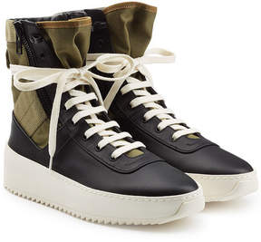 Fear Of God Jungle High Top Sneakers with Leather