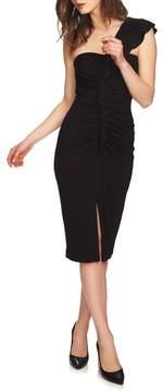1 STATE 1.STATE One-Shoulder Ruffle Midi Dress