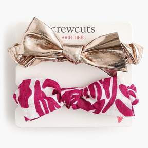 J.Crew Girls' scrunchie two-pack