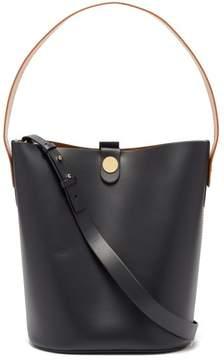 Sophie Hulme Large Swing Leather Bucket Bag - Womens - Tan Navy