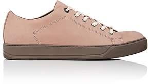 Lanvin Men's Contrast-Sole Nubuck Sneakers