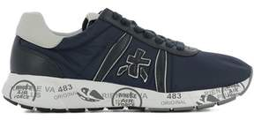 Premiata Men's Blue Leather Sneakers.