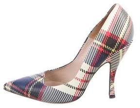 Dries Van Noten Plaid Pointed-Toe Pumps