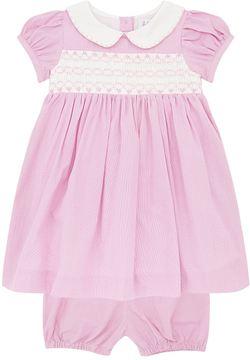 Rachel Riley Houndstooth Puff Sleeve Dress