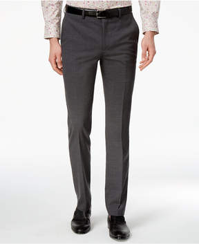 Bar III Men's Extra-Slim Fit Gray/Black Mini-Grid Suit Pants, Created for Macy's