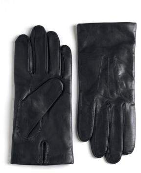 Black & Brown Black Brown Cashmere Lined Leather Gloves