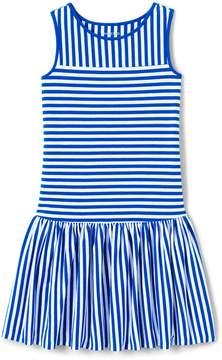 Lands' End Lands'end Girls Drop Waist Stripe Tank Dress
