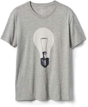 Gap Light bulb graphic crewneck tee