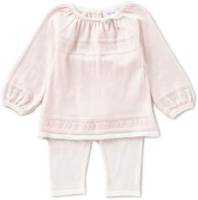 Angel Dear Baby Girls 3-18 Months Long-Sleeve Solid Shirt & Pull-On Pants Set