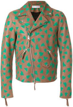 J.W.Anderson heart print biker jacket