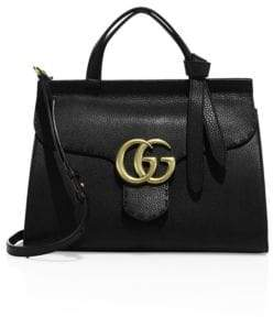 Gucci GG Marmont Leather Top-Handle Bag - RED - STYLE