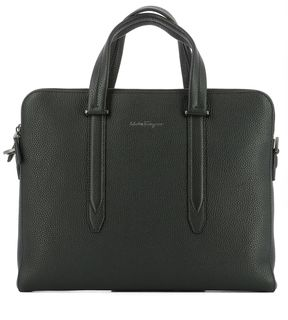 Salvatore Ferragamo Black Leather Handle Bag