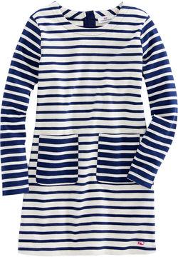 Vineyard Vines Girls Mixed Stripe Knit Pocket Dress