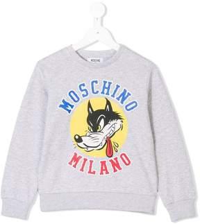 Moschino Kids wolf logo print sweatshirt