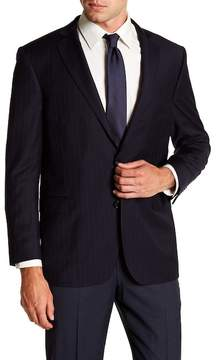 Brooks Brothers Notch Collar Stripe Print Regent Fit Blazer
