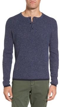 Michael Bastian Men's Rib Henley Sweater
