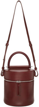Building Block Burgundy Drum Bucket Bag