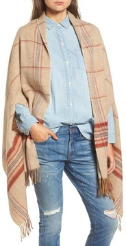 Madewell Women's Placed Plaid Cape Scarf