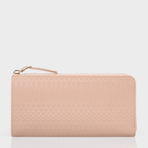 Paul Smith No.9 - Large Powder Pink Leather Zip-Around Purse