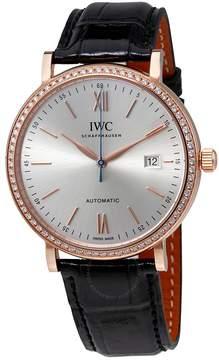 IWC Portofino Automatic Silver Dial Diamond Men's Watch 3565-15