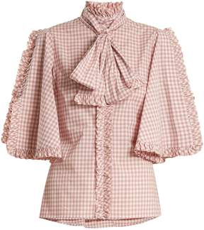 Caroline Constas Hope gingham cotton blouse