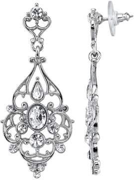 1928 Crystal Filigree Chandelier Earrings