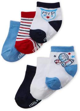 Little Me Newborn/Infant Boys) 6-Pack Socks