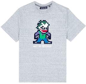 Mostly Heard Rarely Seen 'Why So Serious' rubber appliqué unisex T-shirt
