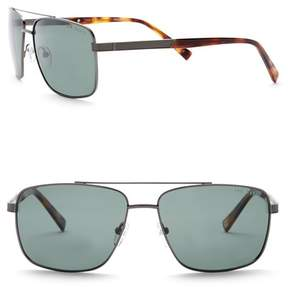Ted Baker 58mm Full Rim Navigator Sunglasses