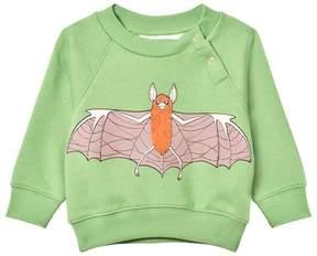 Mini Rodini Green Flying Bat Logo Sweatshirt
