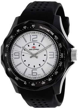 Seapro Dynamite Mens White Dial Black Silicone Strap Watch