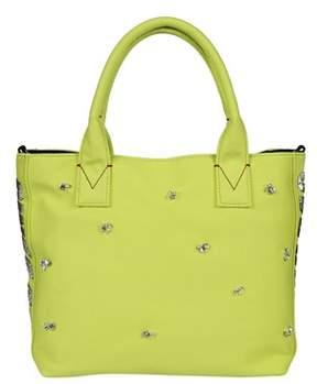 Pinko Women's Yellow Leather Tote.