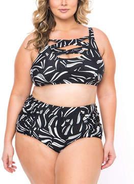 Boutique + + Bralette Swimsuit Top-Plus
