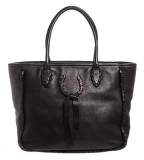 Nina Ricci Black Pebbled Leather Tote Shoulder Bag.