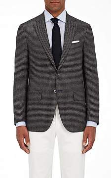 Isaia Men's Sanita Houndstooth Wool Two-Button Sportcoat